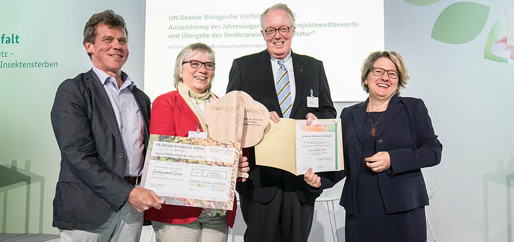 """Fachjury der UN-Dekade Biologische Vielfalt wählt Projekt """"Pferde fördern Vielfalt"""" zum Projekt des Jahres 2018"""